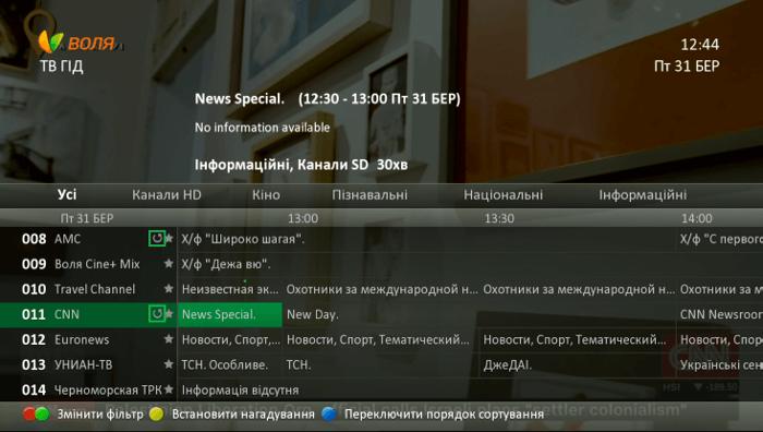 Какие каналы поддерживают управление эфиром?