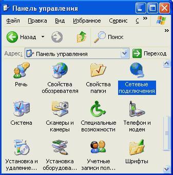 Изображение панели управления