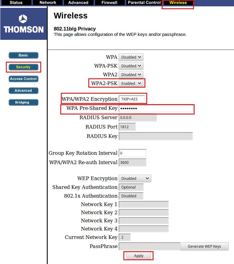 Зображення статті про налаштування роутера THOMSON 710