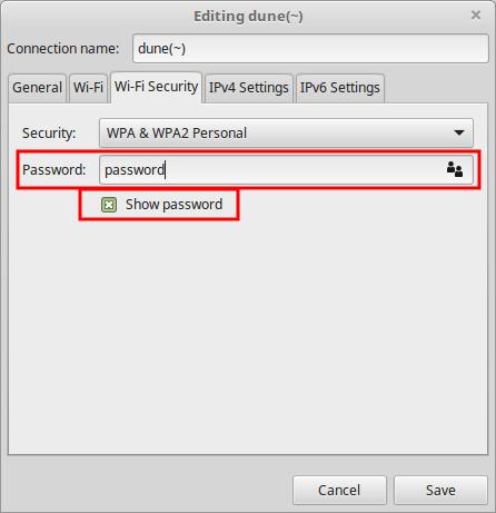 Изображение выбранного Show password
