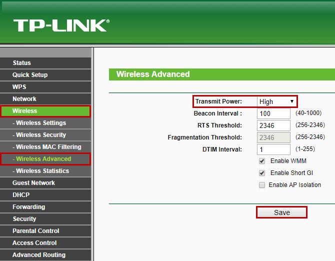 Зображення інтерфейсу Tp-Link