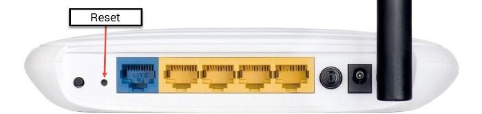 Зображення задньої панелі роутера
