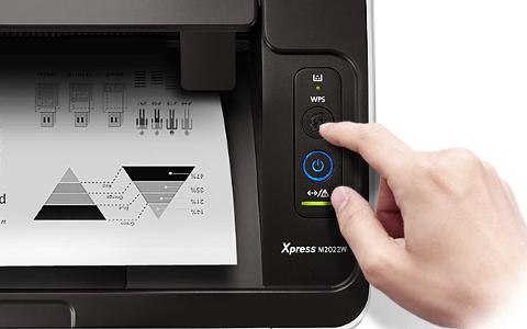 Кнопка на панели принтера